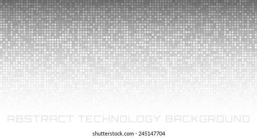 Abstract Gray Technology Horizontal Background, vector illustration