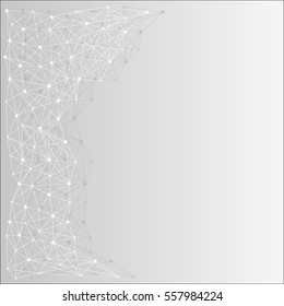 Abstract gray white background with mesh or grid of lines and dots, circles, for your amazing modern design.