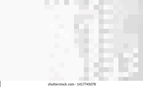 Abstract gray white background with squares. Mosaic. eps10 Vector