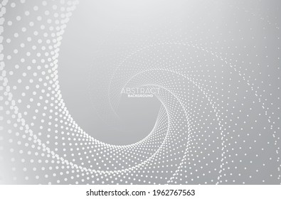Abstract gray and white flowing line digital technology, smooth particle wave, big data techno design concept background wallpaper, vector eps  - Shutterstock ID 1962767563