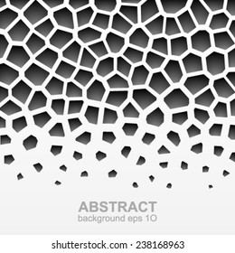Abstract grayscale geometric pattern.