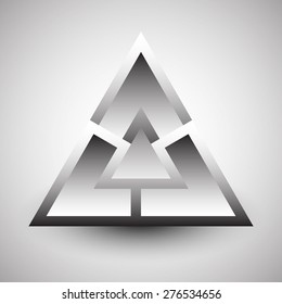 Abstract grayscale triangular element. abstract triangle