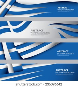 Abstract Greek Flag, Greece National Color Infographics Background (Vector Art)