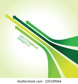abstract green arrow strips