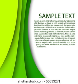 Abstract green background with custom text copy space