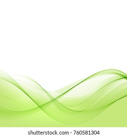 Abstract green background waves.