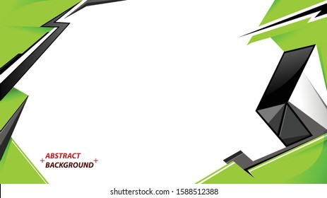 Abstract green and black line direction with white blank space and text design modern futuristic background vector illustration.