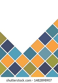 Abstract Green, Blue And Orange Geometrical Decoration, Cover Background Template