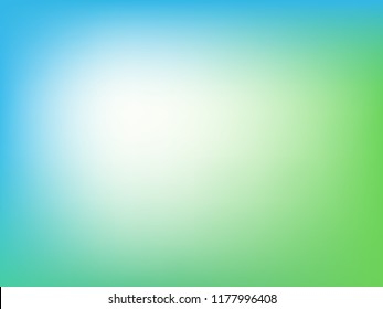 Abstract green blurred gradient background. Nature backdrop. Vector illustration.