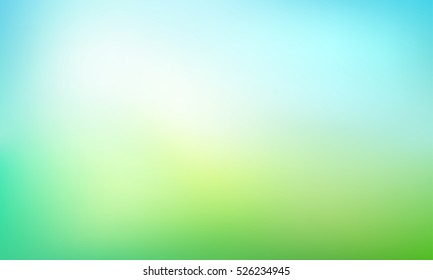 Abstract green blurred gradient background. Nature backdrop. Vector illustration. Ecology concept for your graphic design, banner or poster.