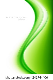 Abstract green bright background in wavy style