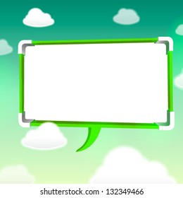 abstract green color bubble talk