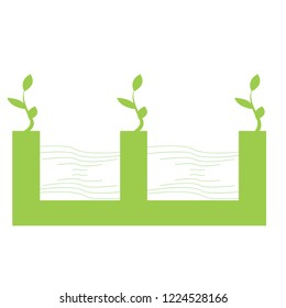 abstract green eco icons vector illustration
