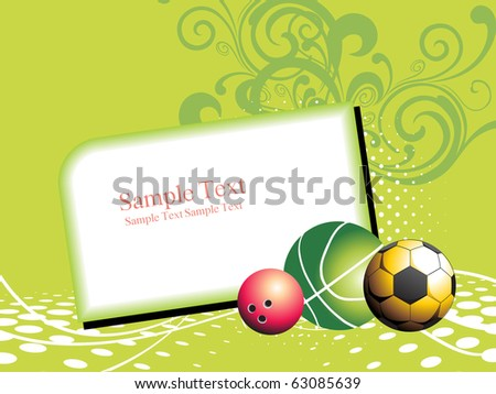 Abstract Green Floral Background Basketball Football Stock