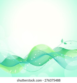 Abstract green friendly background, vector illustration