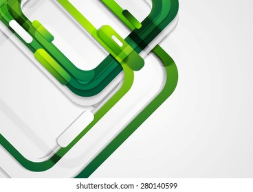 Abstract green geometric corporate background. Vector design