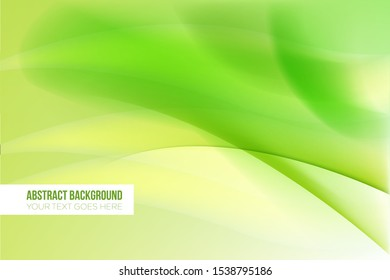 Abstract Green gradient curve background
