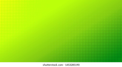 Abstract green gradient halftone background. Natural color vector backdrop. Template for flyer, banner design