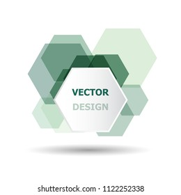 Abstract green hexagon banner background template, stock vector