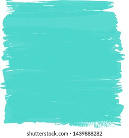 Abstract Green ink square on white background, space for text