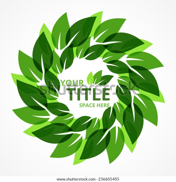 Abstract Green Leaf Background Stock Vector Royalty Free