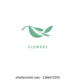 Abstract green leaf logo icon vector design. Landscape design, garden, Plant, nature and ecology vector logo. Ecology Happy life Logotype concept icon. Vector illustration, Graphic Editable Design