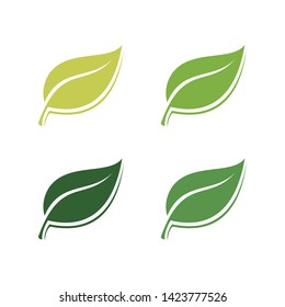 Abstract green leaf logo icon vector design. Landscape design, garden, Plant, nature and ecology vector logo. Ecology Happy life Logotype concept icon