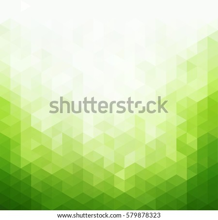 abstract green light template background trianglesのベクター画像素材