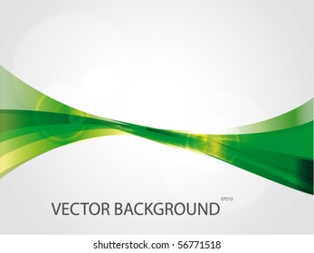 Abstract green lines vector background