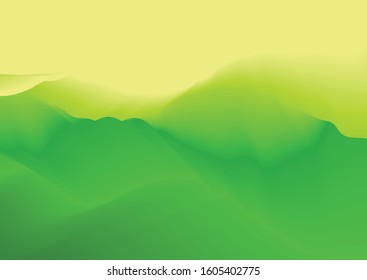 Abstract green meadow background with gradient blend effect