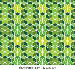 Abstract green pattern - seamless geometric figures