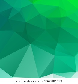 Abstract green polygon texture background
