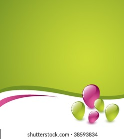 Abstract green and purple vector background with colorful stones 2