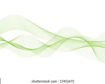 Abstract green ribbons