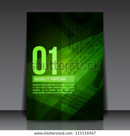 abstract green rusty newspaper flyer template stock vector royalty