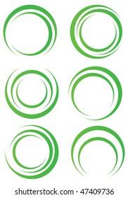 Abstract green shapes