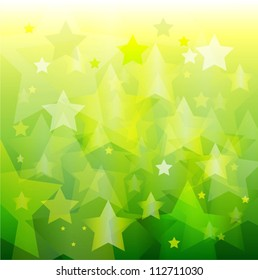 abstract green star bokeh background