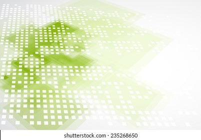 Abstract green technolgy business concept with keyboard. Ecology background