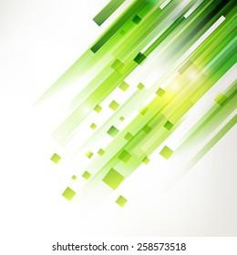 Abstract green technology modern geometric spot. Linear fresh green background. Modern summer design elements.