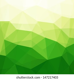 Abstract Green Triangle Background, Vector Illustration EPS10, Contains Transparent Objects