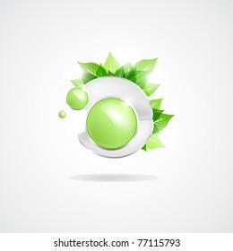 abstract green vector illustration