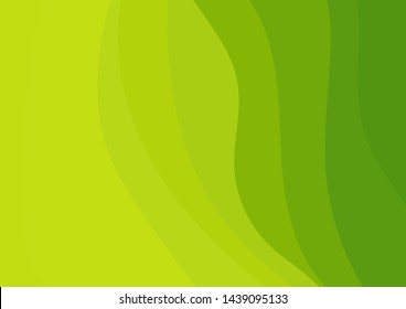 Abstract green vector waves background