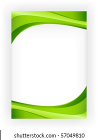 Abstract green wave background with copy space for text, great for nature, spring or eco themes.