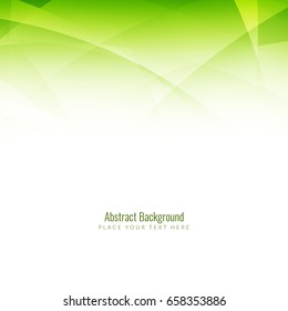 Abstract green wave background design