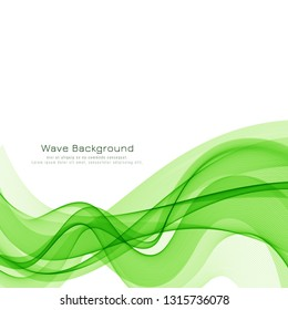 Abstract green wave modern background design