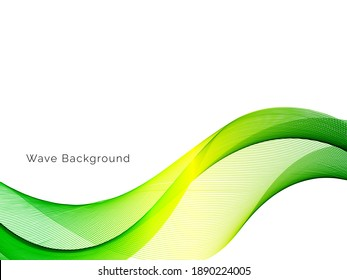 Abstract green wave modern smooth wave background