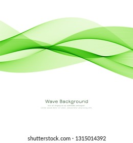 Abstract green wave modern vector background design