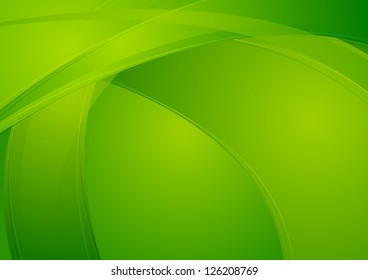 Abstract green wavy background. Vector design eps 10