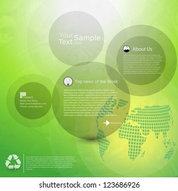 Abstract green website template