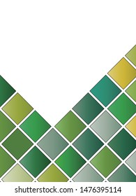 Abstract Green And Yellow Geometrical Decoration, Cover Background Template